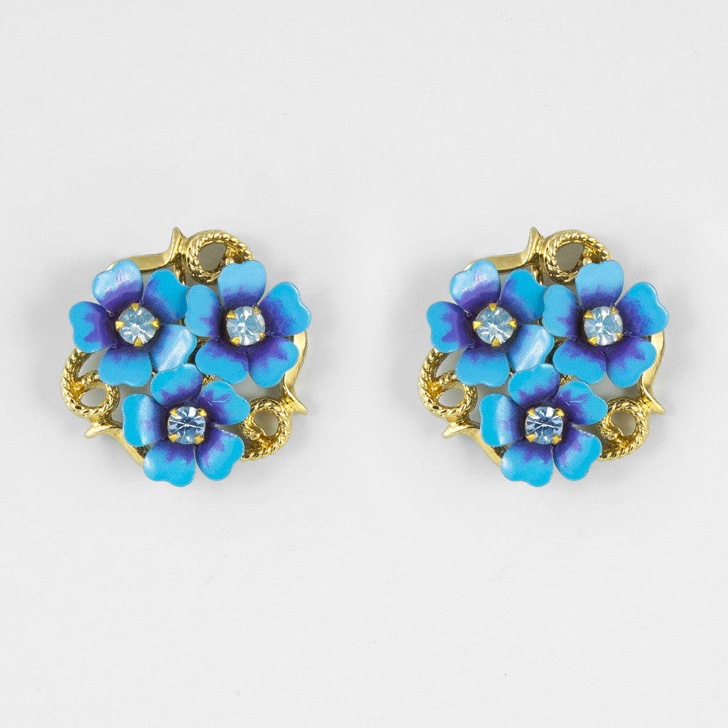 Forgetmenot statement earrings