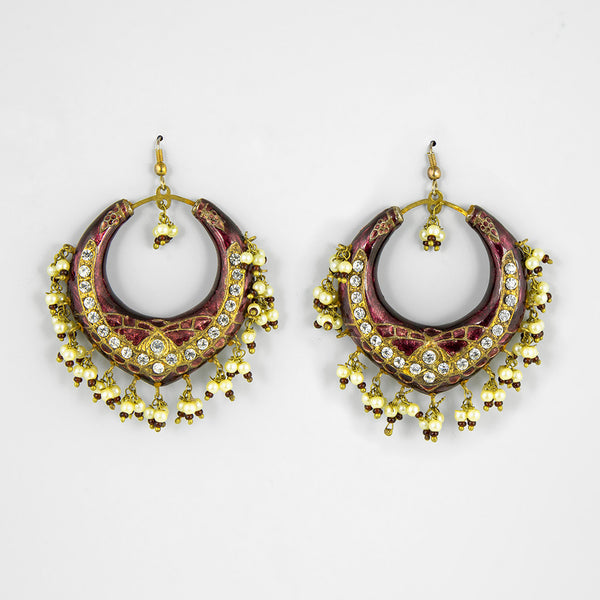 Indian bling statement earrings