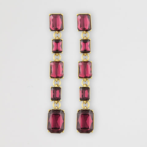 Bodacious rouge statement earrings