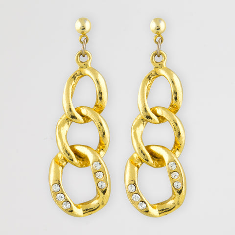 All chained statement earrings
