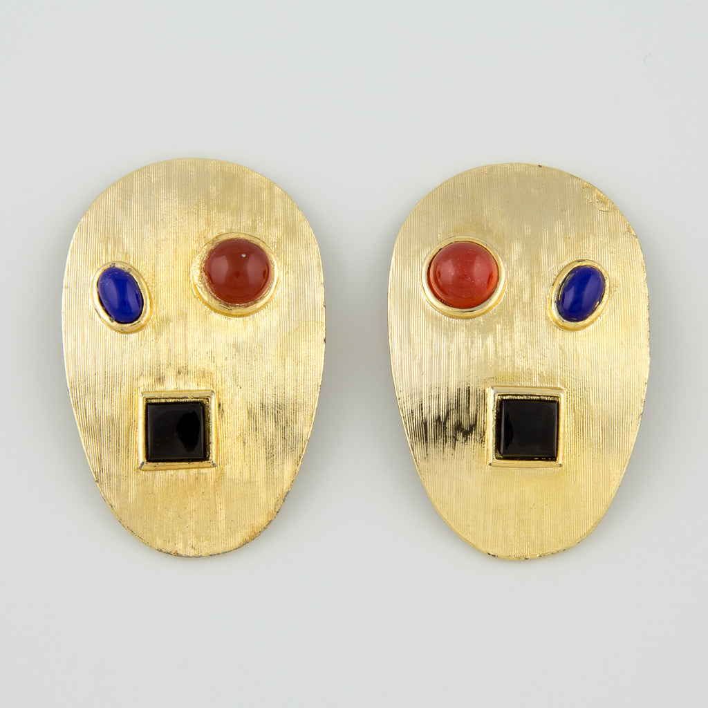 Art palate statement earrings