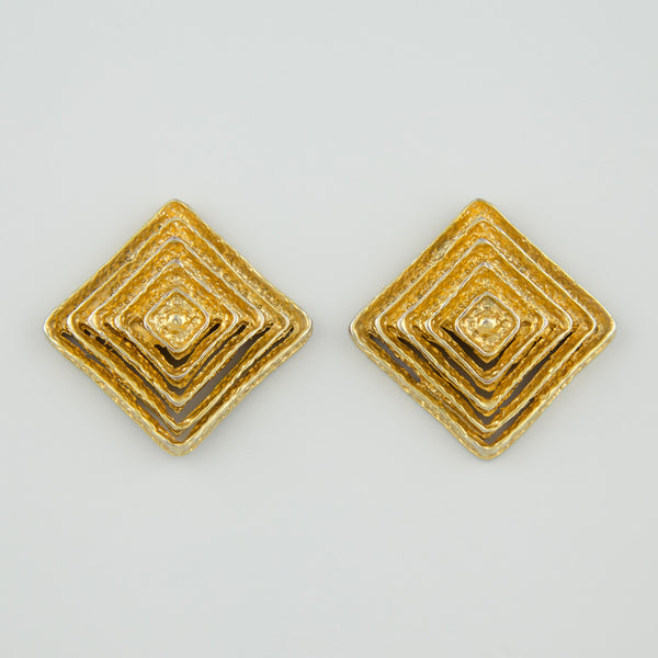 Square maze statement earrings