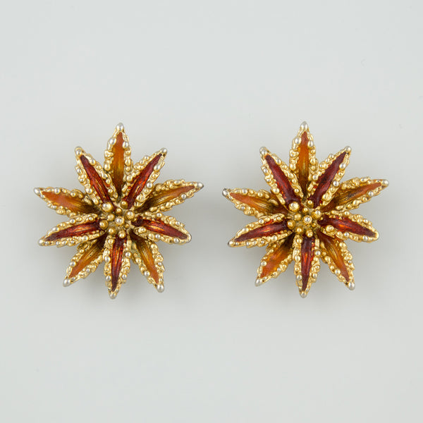 Star burst statement earrings