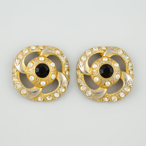 Big wheel statement earrings
