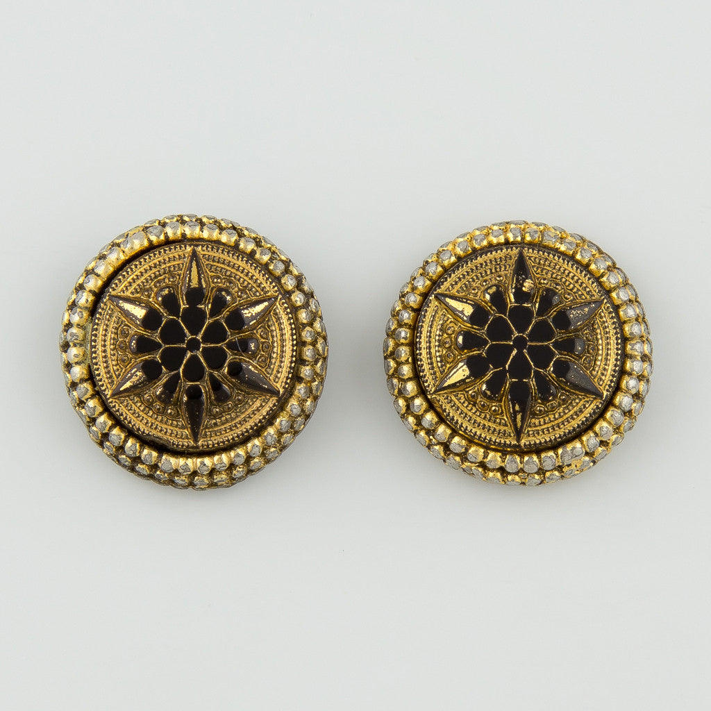 Star stud statement earrings