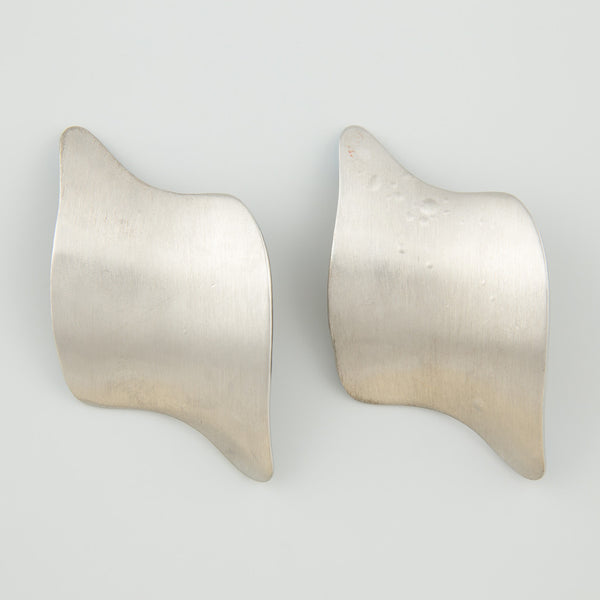 Wavey silver statement earrings