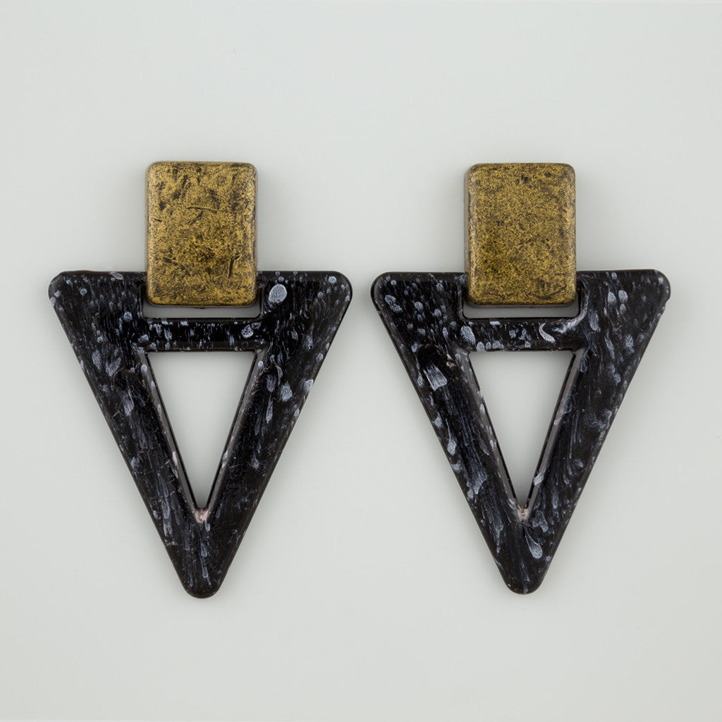 Triangle wash statement earrings