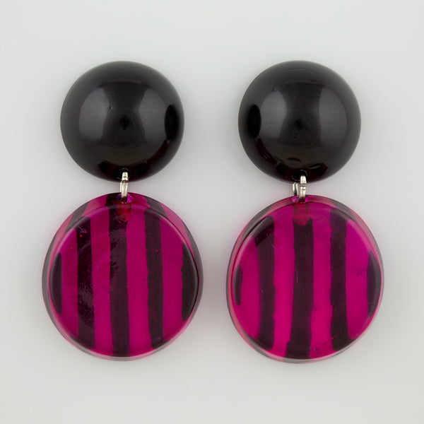 Wicked stripe statement earrings