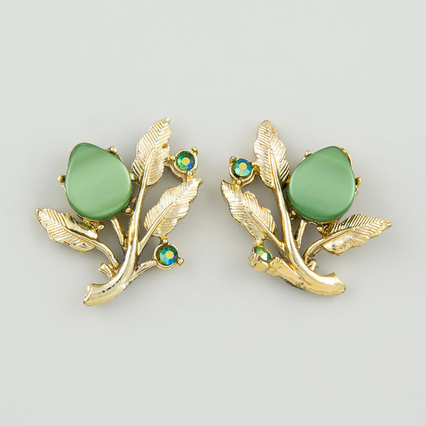 Dreamy green statement earrings