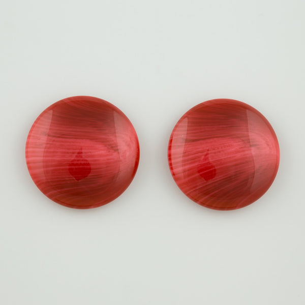 Retro red statement earrings