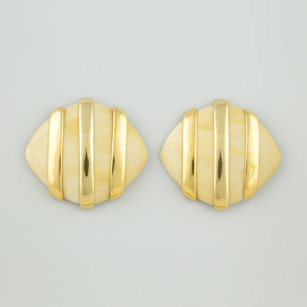 Curve stripe statement earrings