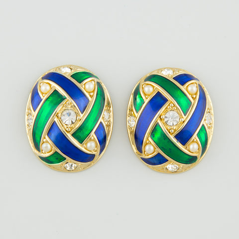 Allure knot statement earrings