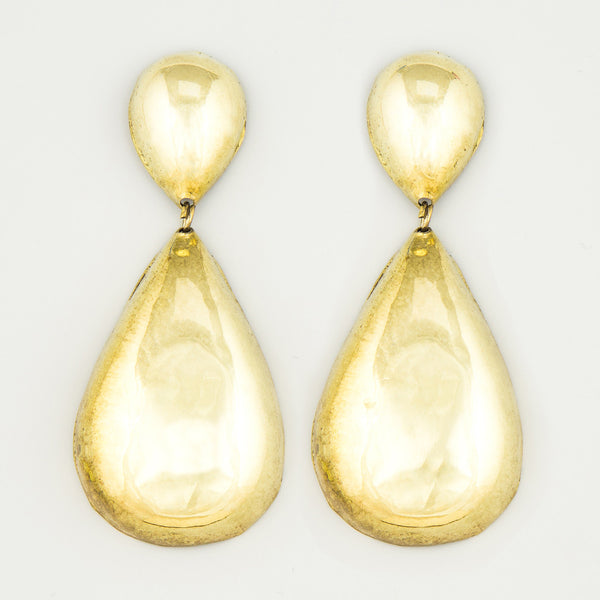 Dripping tears statement earrings