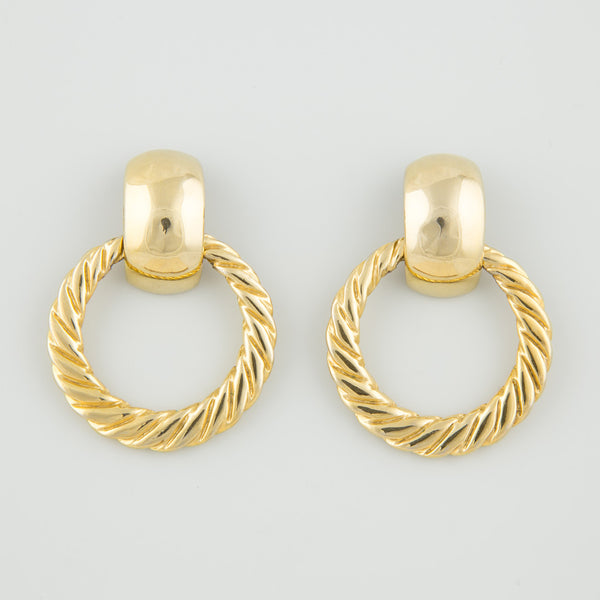 Gold knockers statement earrings