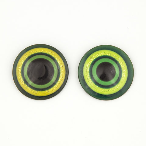 Green goddess statement earrings