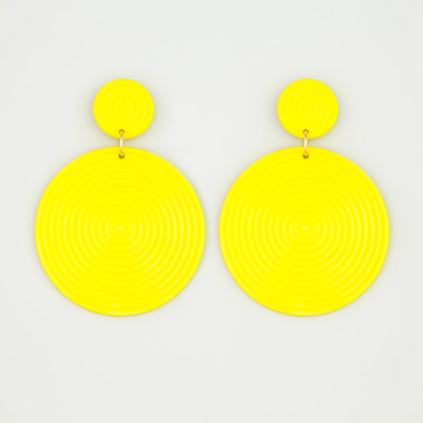 Disc appeal statement earrings
