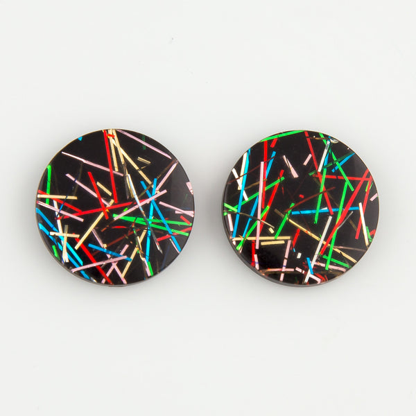 Glitterati black statement earrings