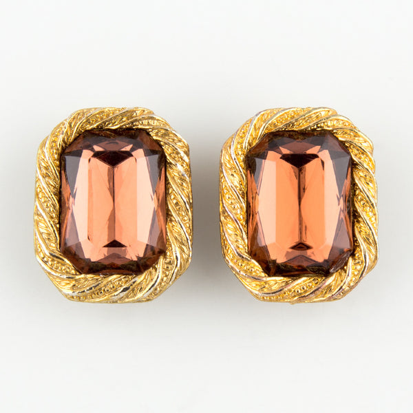Gem stone statement earrings