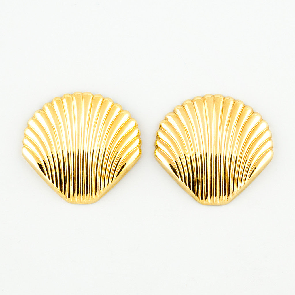 Super shell statement earrings