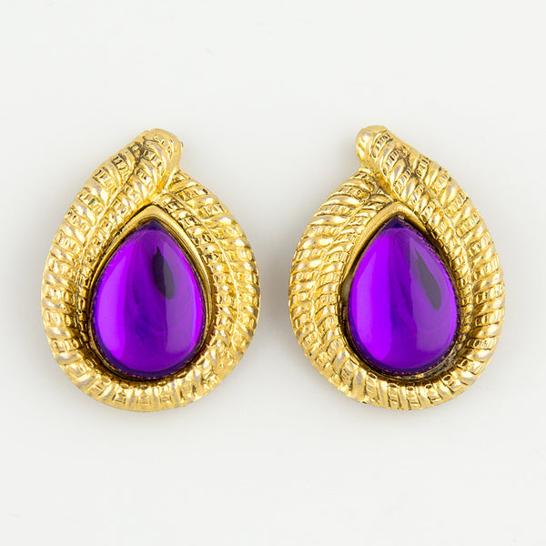 Always purple statement earrings