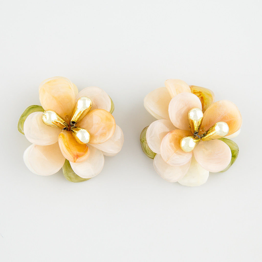 Strong floral statement earrings