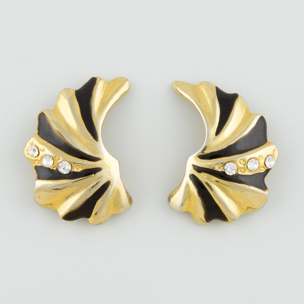 Falired wings statement earrings