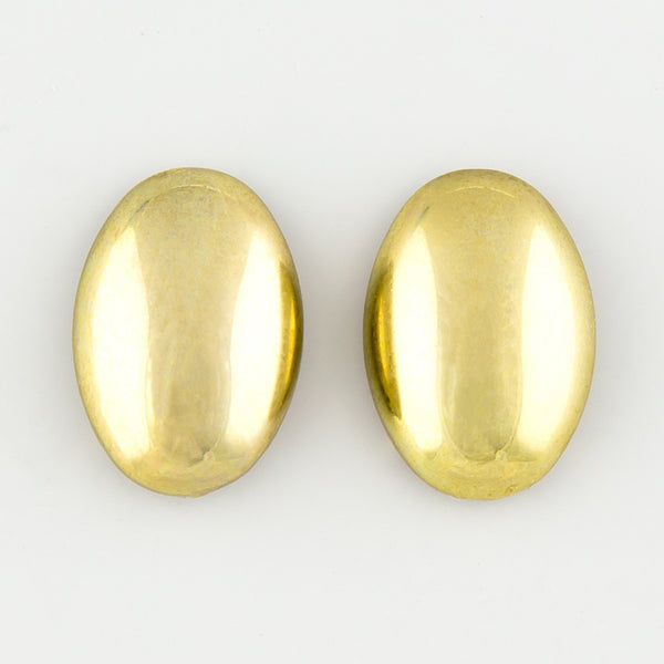 Oval nugget statement earrings