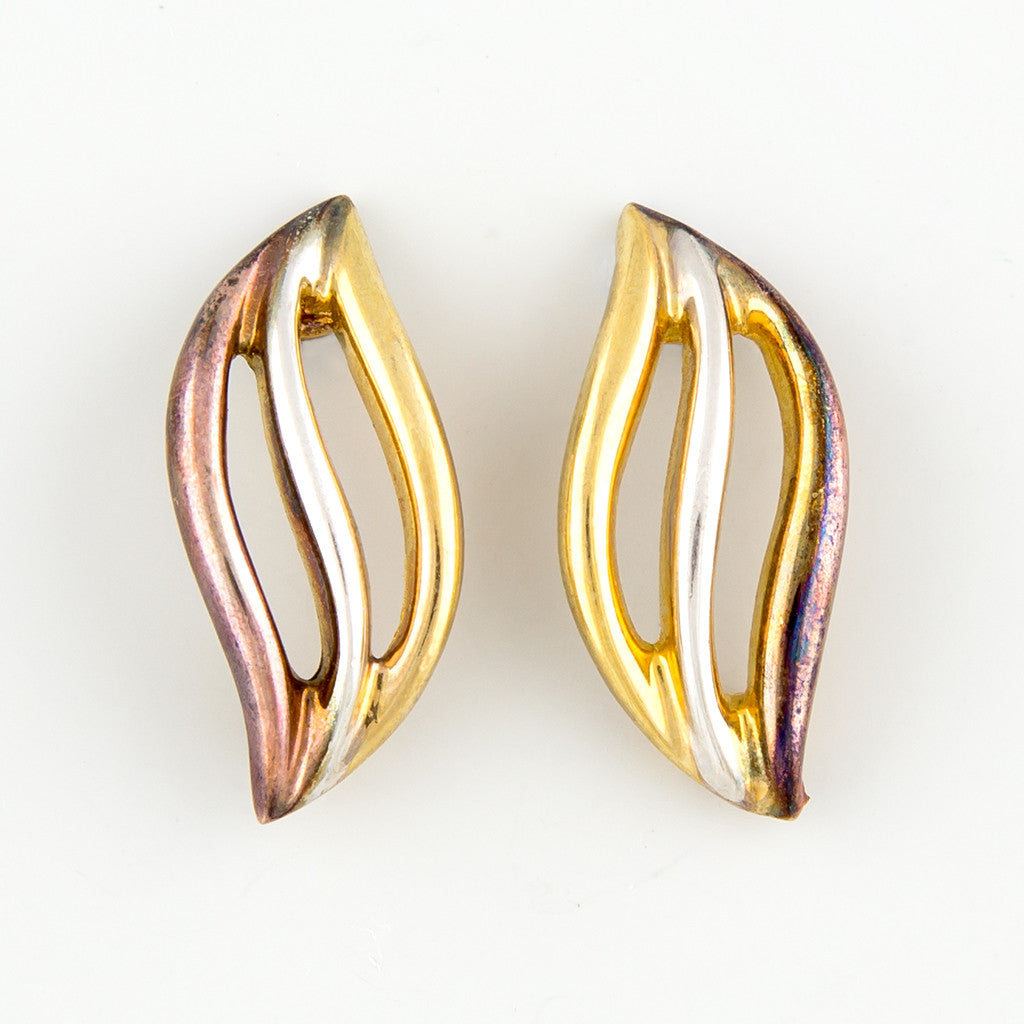 Swish flick swipe statement earrings