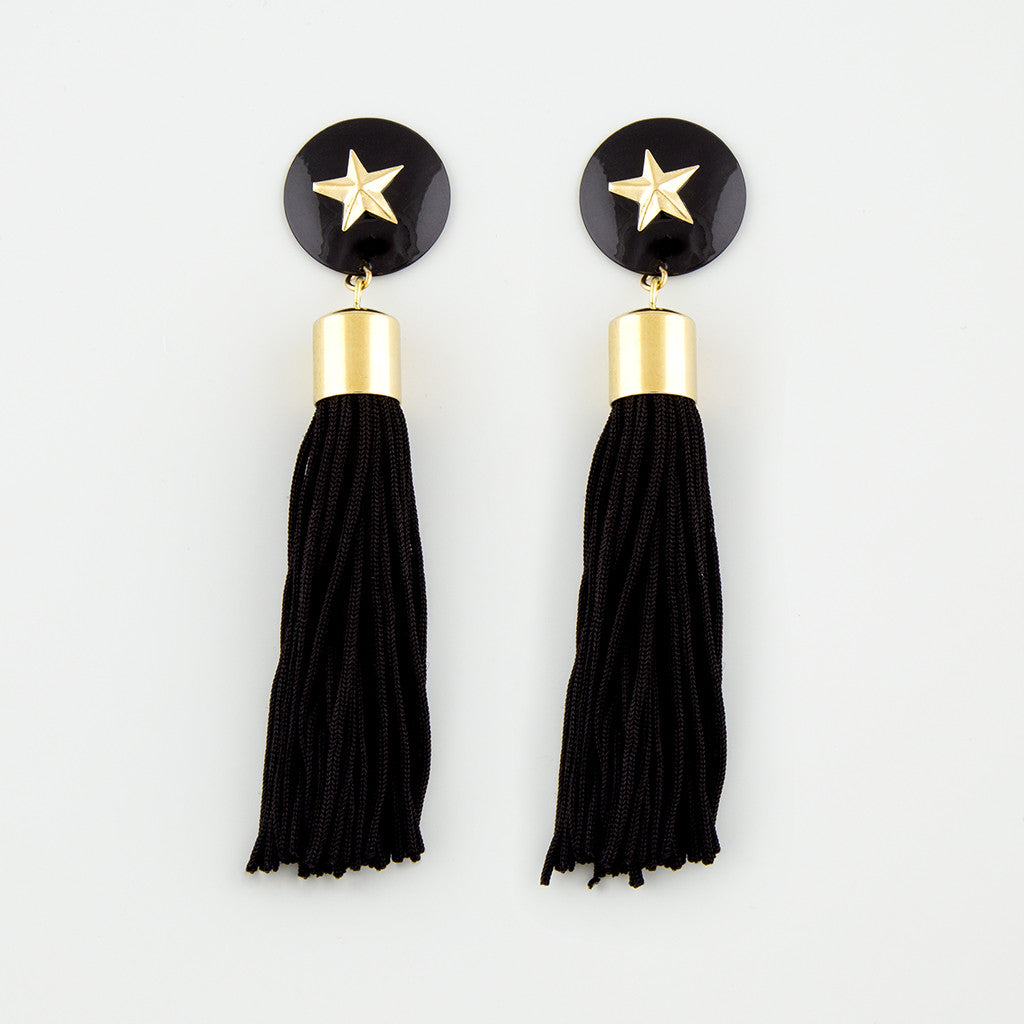 Amaze tassle statement earrings