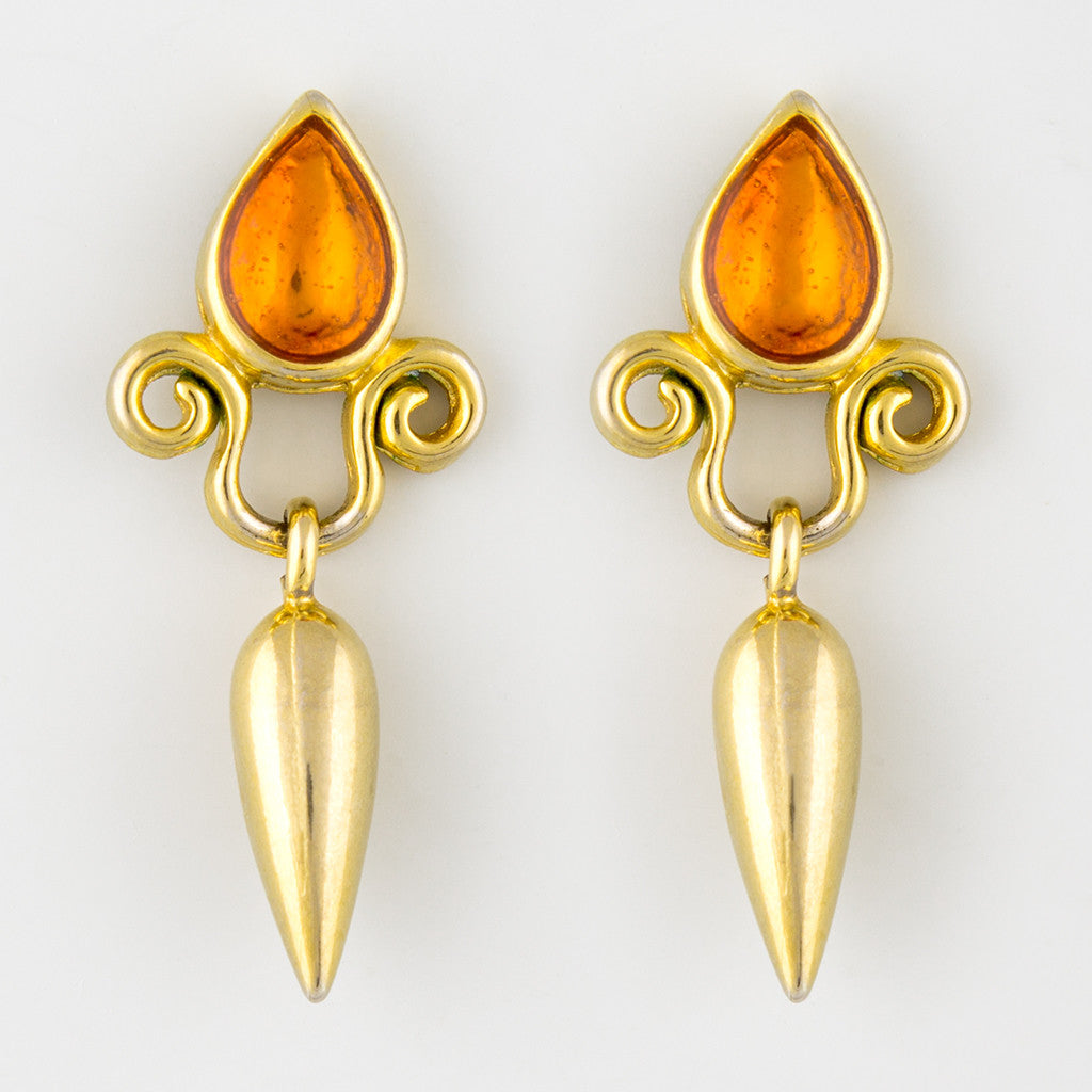 Ancient kudos statement earrings