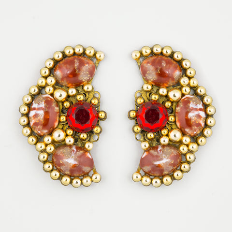 Mexican flare statement earrings