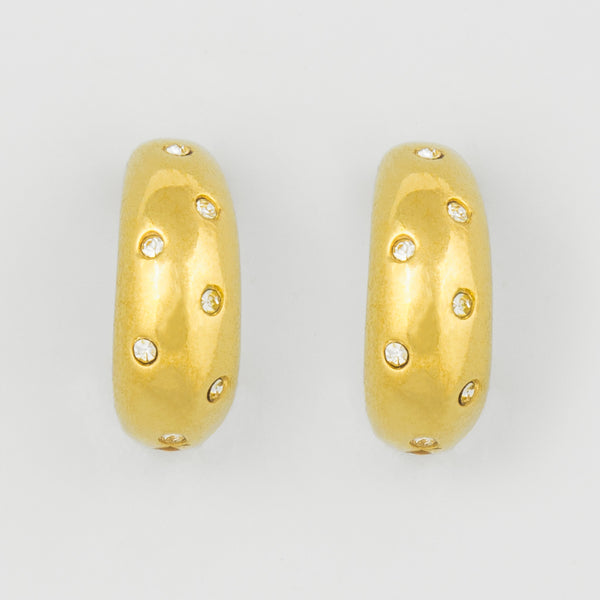 All dotted statement earrings