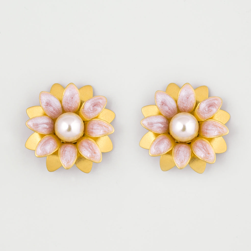 Floral days statement earrings