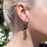 Adventure cat statement earrings