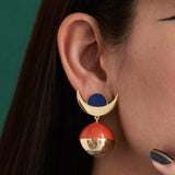 Dimension statement earrings