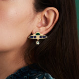 Nucleus statement earrings