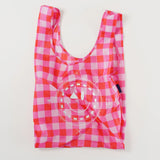 Magenta Check Metallic Bag