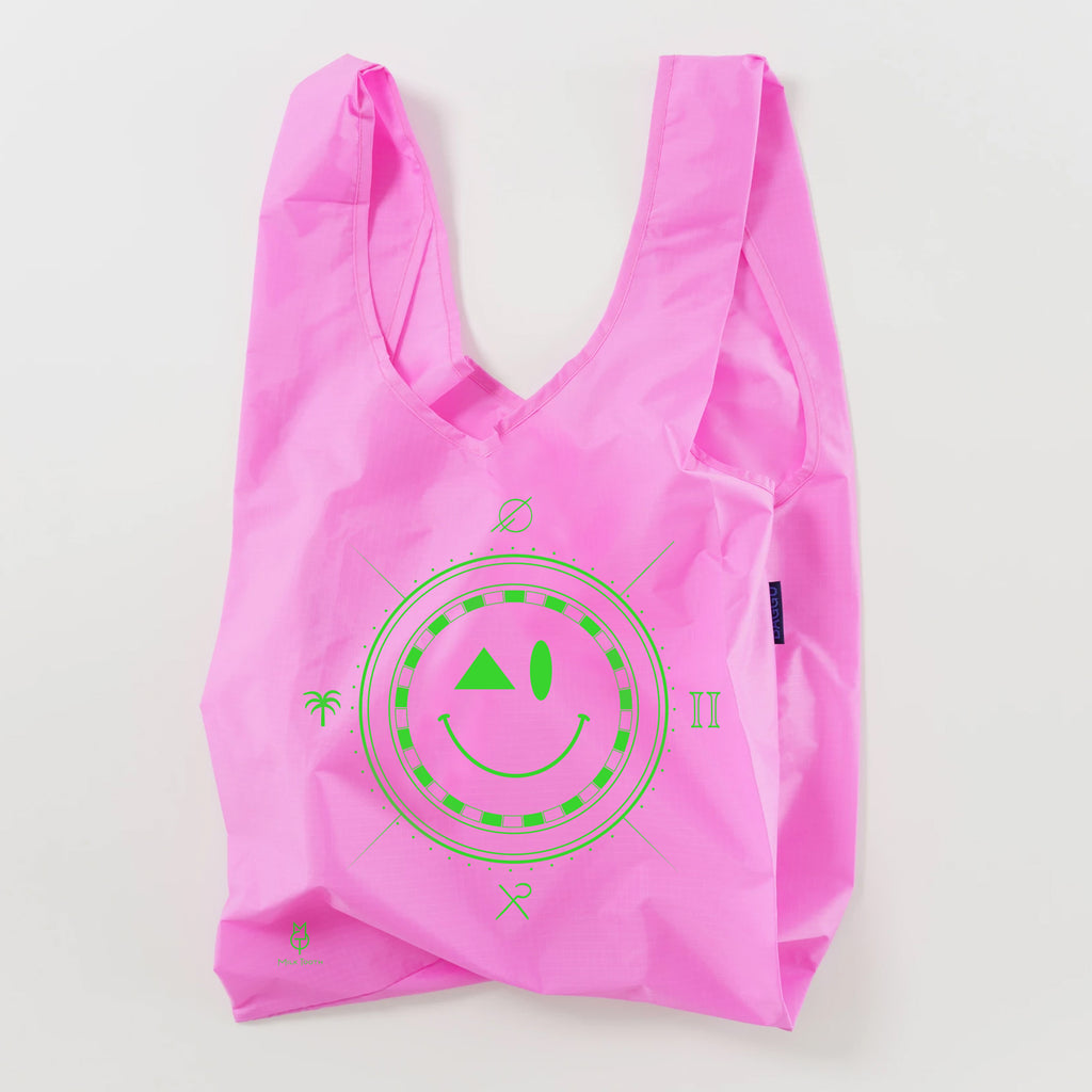 Pink Neon Smiley Bag