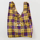 Yellow Tartan Metallic Bag