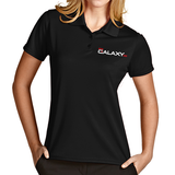 Women's Black Exceed Polo