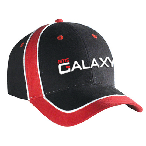 Black & Red Adjustable Pro-Style Cap
