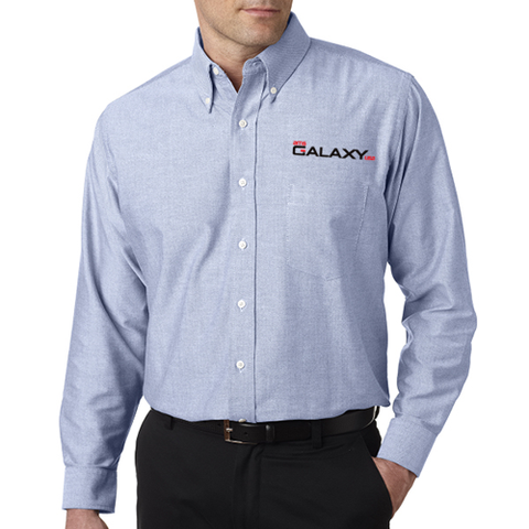 Men's Blue TALL Long-Sleeve Oxford Shirt