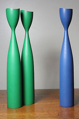 Lot of 3 Mid Century MOdern Danish Candlesticks Jens Quistgaard Made in Denmark