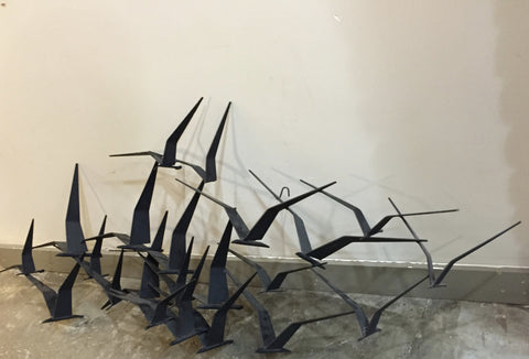 "Curtis Jere ""Birds In flight"" Metal Sculpture"