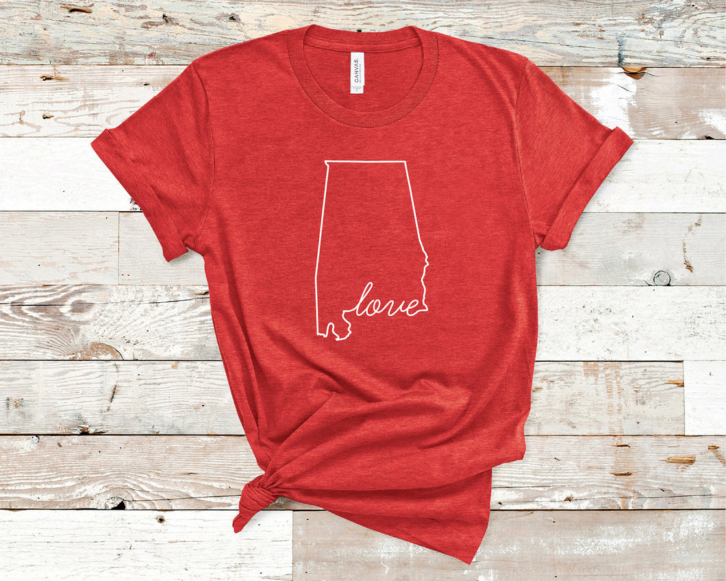 Alabama Love Shirt - Home Sweet Pillow Co
