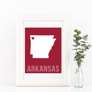 Arkansas Print - Home Sweet Pillow Co