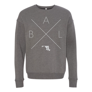 Baltimore Home Crew Neck Sweatshirt - Home Sweet Pillow Co