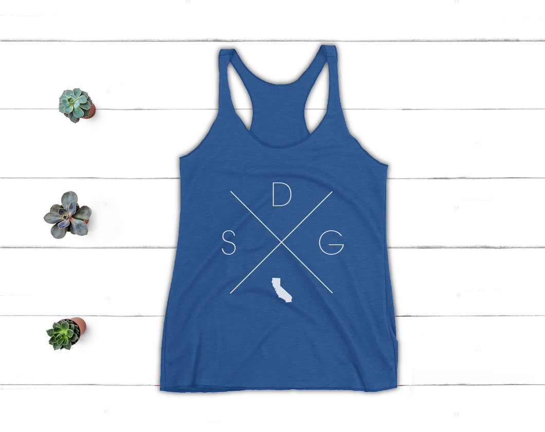 San Diego Racerback Tank - Home Sweet Pillow Co