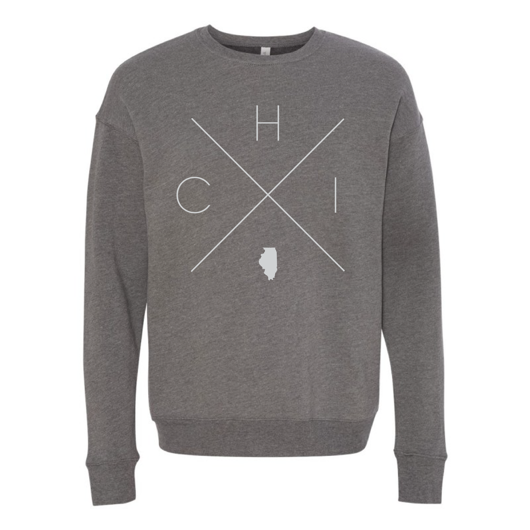 Chicago Home Crew Neck Sweatshirt - Home Sweet Pillow Co