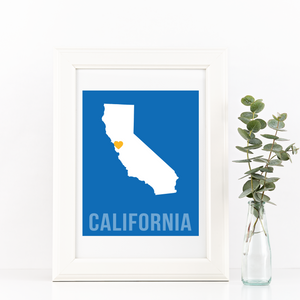 California Print - Home Sweet Pillow Co